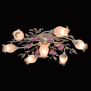 Lampa wisząca Provence Flora 7 Biały - 422010607 small 2