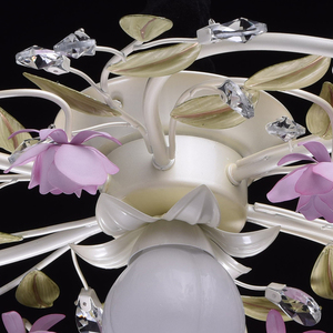 Lampa wisząca Provence Flora 7 Biały - 422010607 small 11