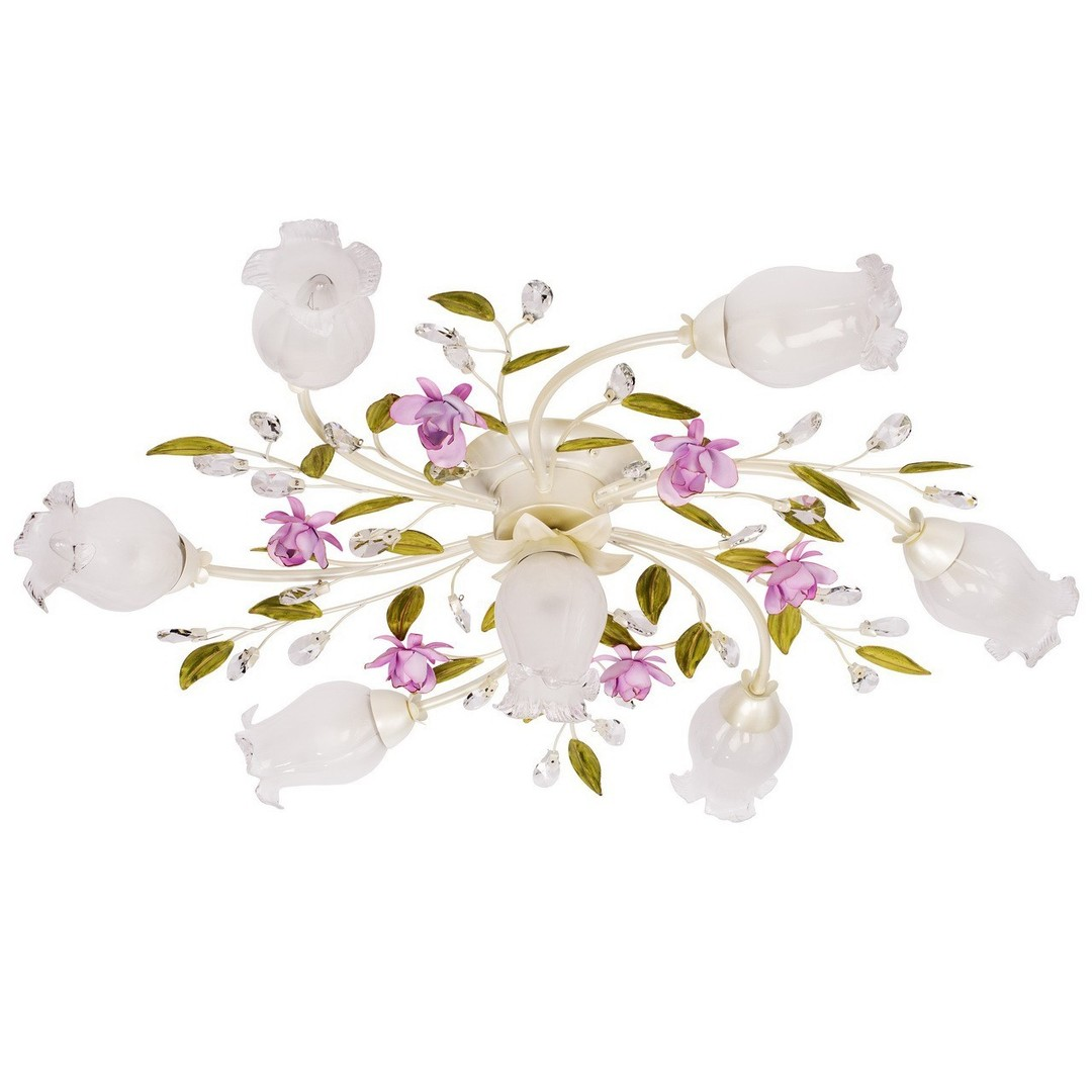 Lampa wisząca Provence Flora 7 Biały - 422010607