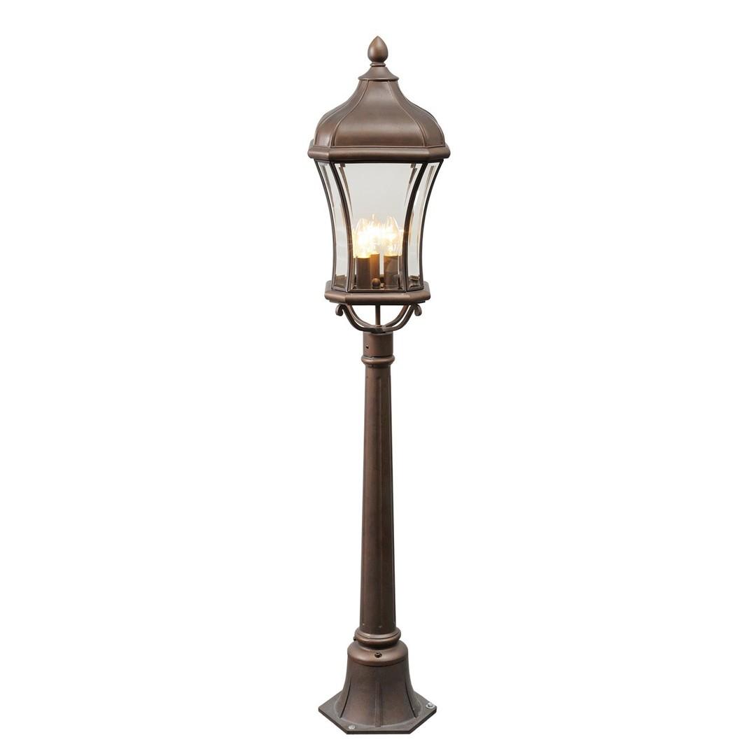Lampa ogrodowa Chateau Street 3 Brązowy - 800040203