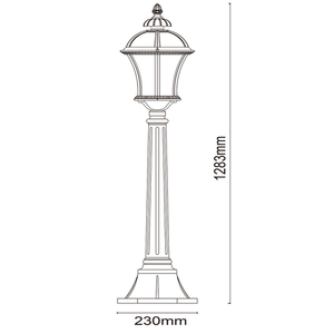 Lampa ogrodowa Sandra Street 1 Czarny - 811040501 small 2