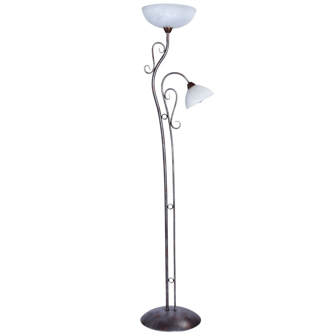 Lampa Podłogowa Aida Country 2 Brązowy - 323042902