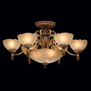 Lampa wisząca Bologna Country 9 Brązowy - 254012909 small 2