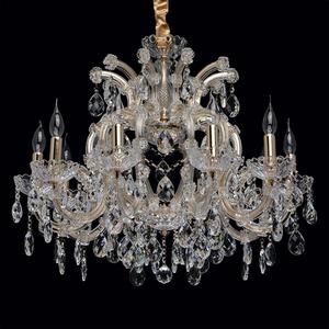Żyrandol Odetta Crystal 10 Złoty - 405010810 small 1