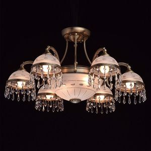 Lampa wisząca Amanda Classic 8 Mosiądz - 295016008 small 2