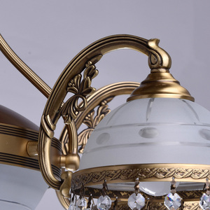 Lampa wisząca Amanda Classic 8 Mosiądz - 295016008 small 7