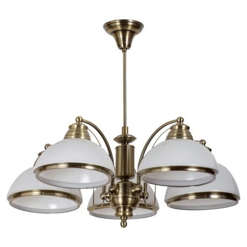 Lampa wisząca Felice Classic 5 Mosiądz - 347010605