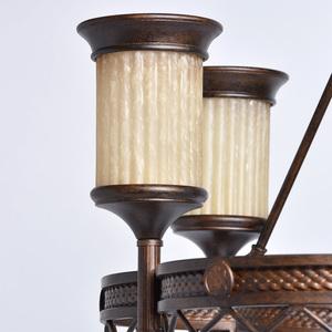 Lampa wisząca Magdalena Country 6 Brązowy - 382010206 small 3