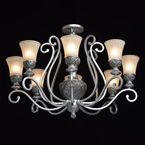 Lampa wisząca Bologna Country 8 Srebrny - 254010908 small 2