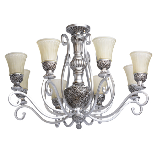 Lampa wisząca Bologna Country 8 Srebrny - 254010908