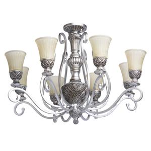 Lampa wisząca Bologna Country 8 Srebrny - 254010908 small 0