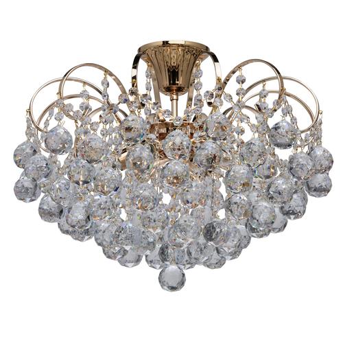 Lampa wisząca Pearl Crystal 6 Złoty - 232016406