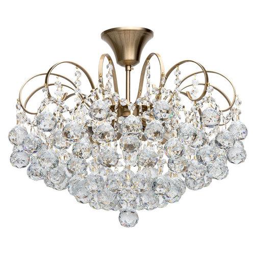 Lampa do salonu glamour Pearl Crystal 6 Mosiądz - 232016506