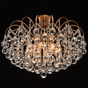 Lampa wisząca Pearl Crystal 8 Mosiądz - 232016808 small 2