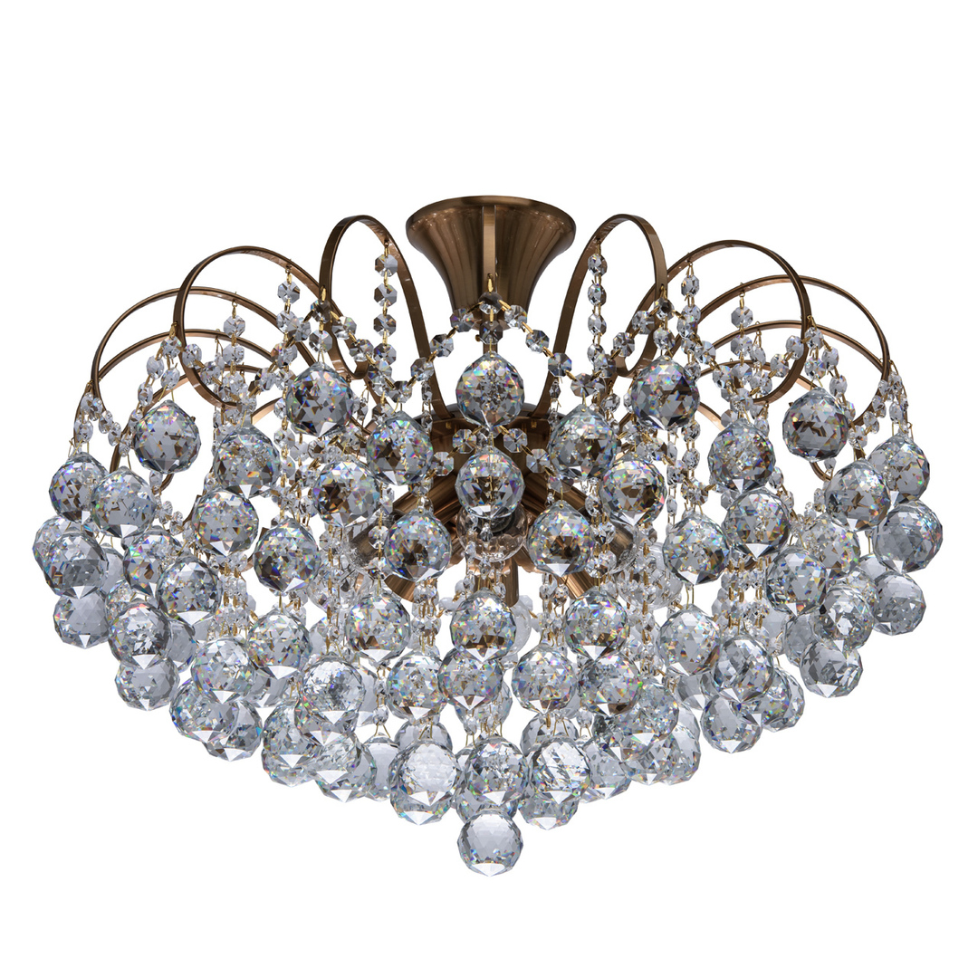 Lampa wisząca Pearl Crystal 8 Mosiądz - 232016808
