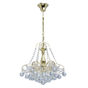 Żyrandol Pearl Crystal 6 Złoty - 232017306 small 0
