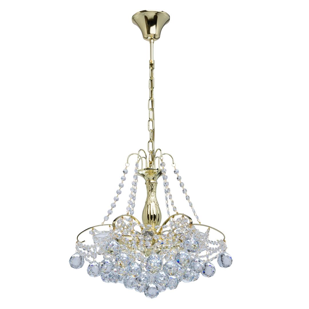 Żyrandol Pearl Crystal 6 Złoty - 232017306