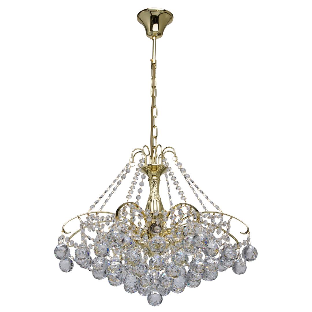 Żyrandol Pearl Crystal 8 Złoty - 232017408