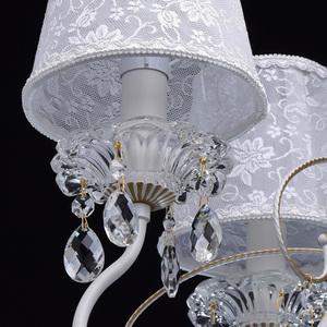 Żyrandol Augustina Elegance 5 Biały - 419010805 small 5