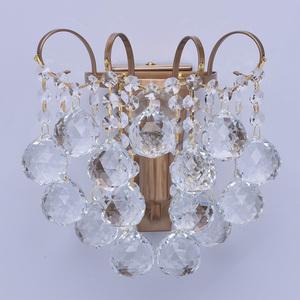 Kinkiet Pearl Crystal 1 Mosiądz - 232028201 small 2