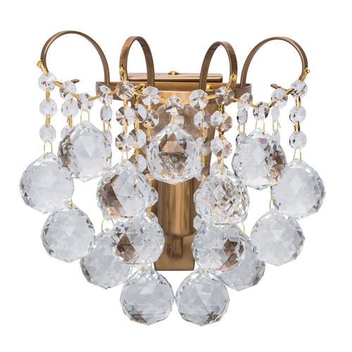 Kinkiet Pearl Crystal 1 Mosiądz - 232028201