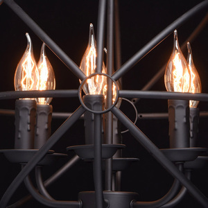 Lampa wisząca Castle Country 6 Czarny - 249017306 small 2