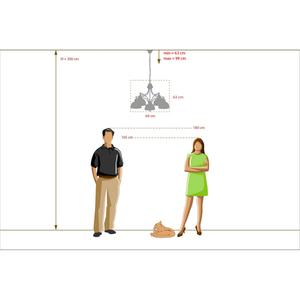 Lampa wisząca Felice Classic 5 Chrom - 347017405 small 10
