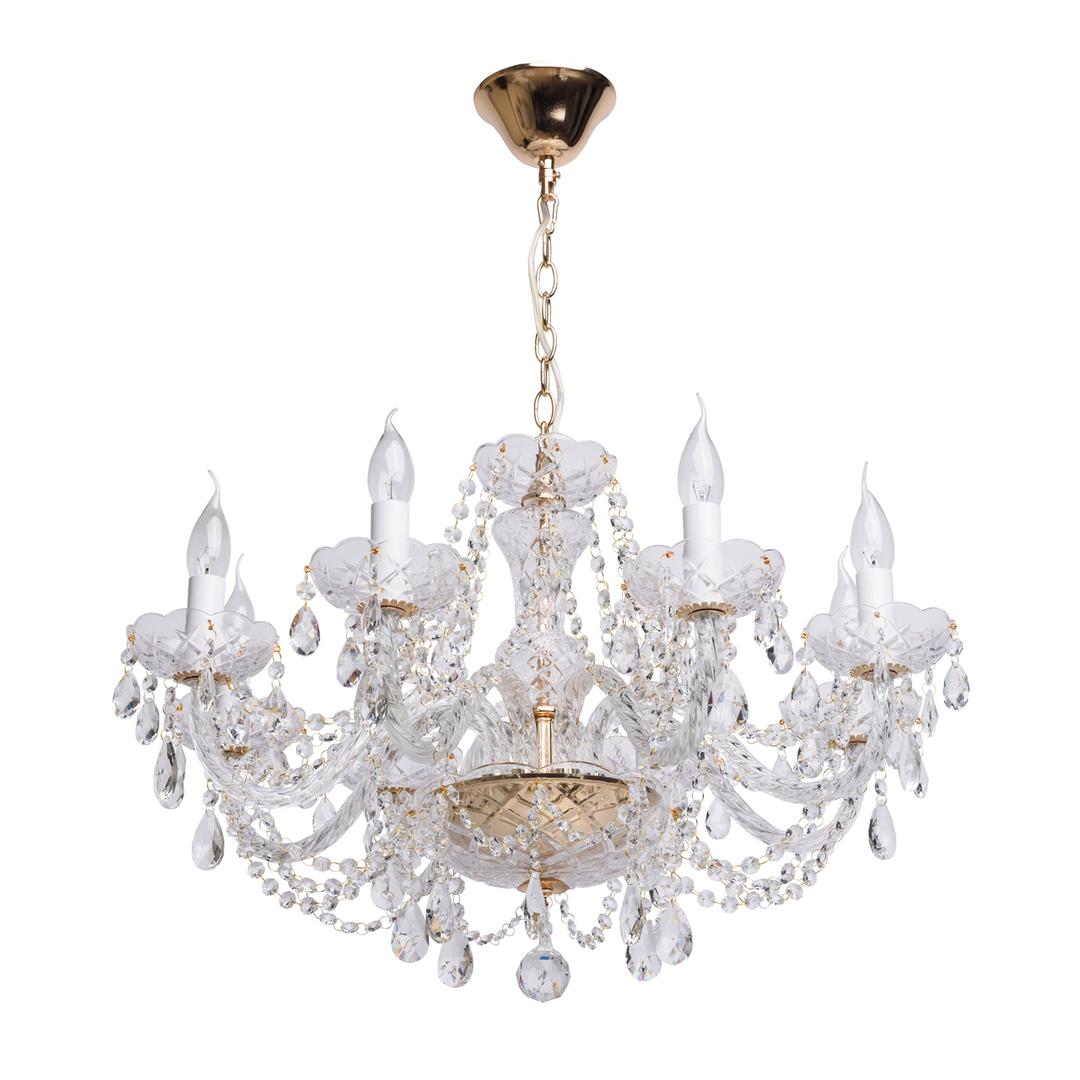 Żyrandol Caroline Crystal 8 Złoty - 367012708