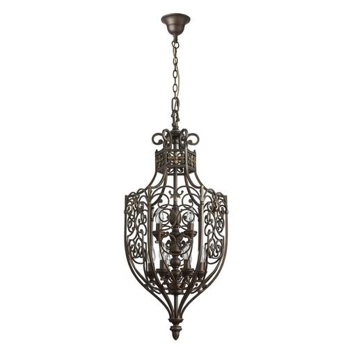 Lampa wisząca Magdalena Country 9 Brązowy - 389011609