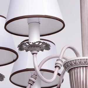 Lampa wisząca Augustina Elegance 6 Biały - 419011006 small 3