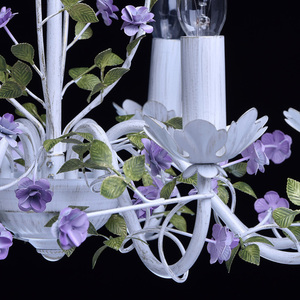 Żyrandol Provence Flora 8 Biały - 421014308 small 6