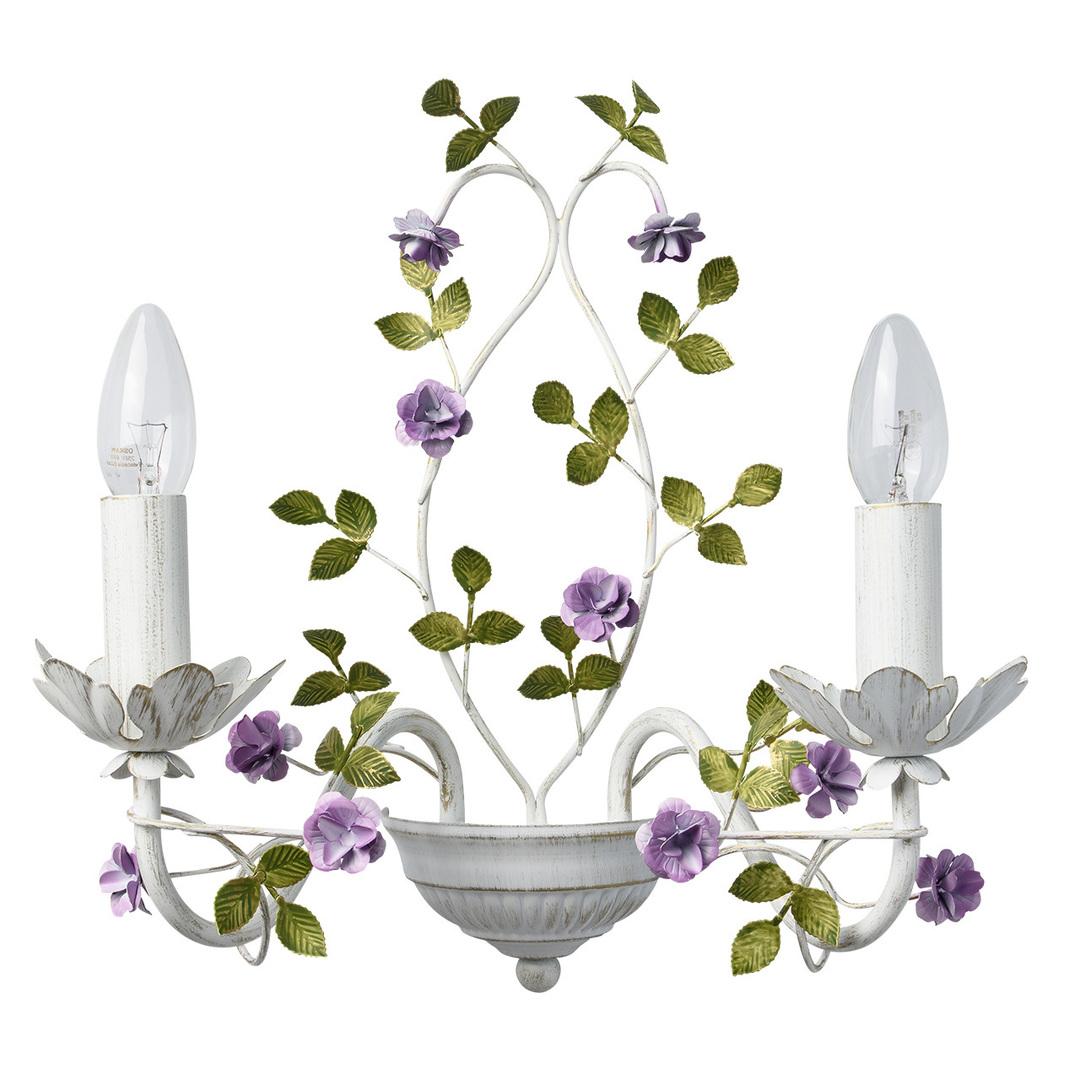 Kinkiet Provence Flora 2 Biały - 421024502