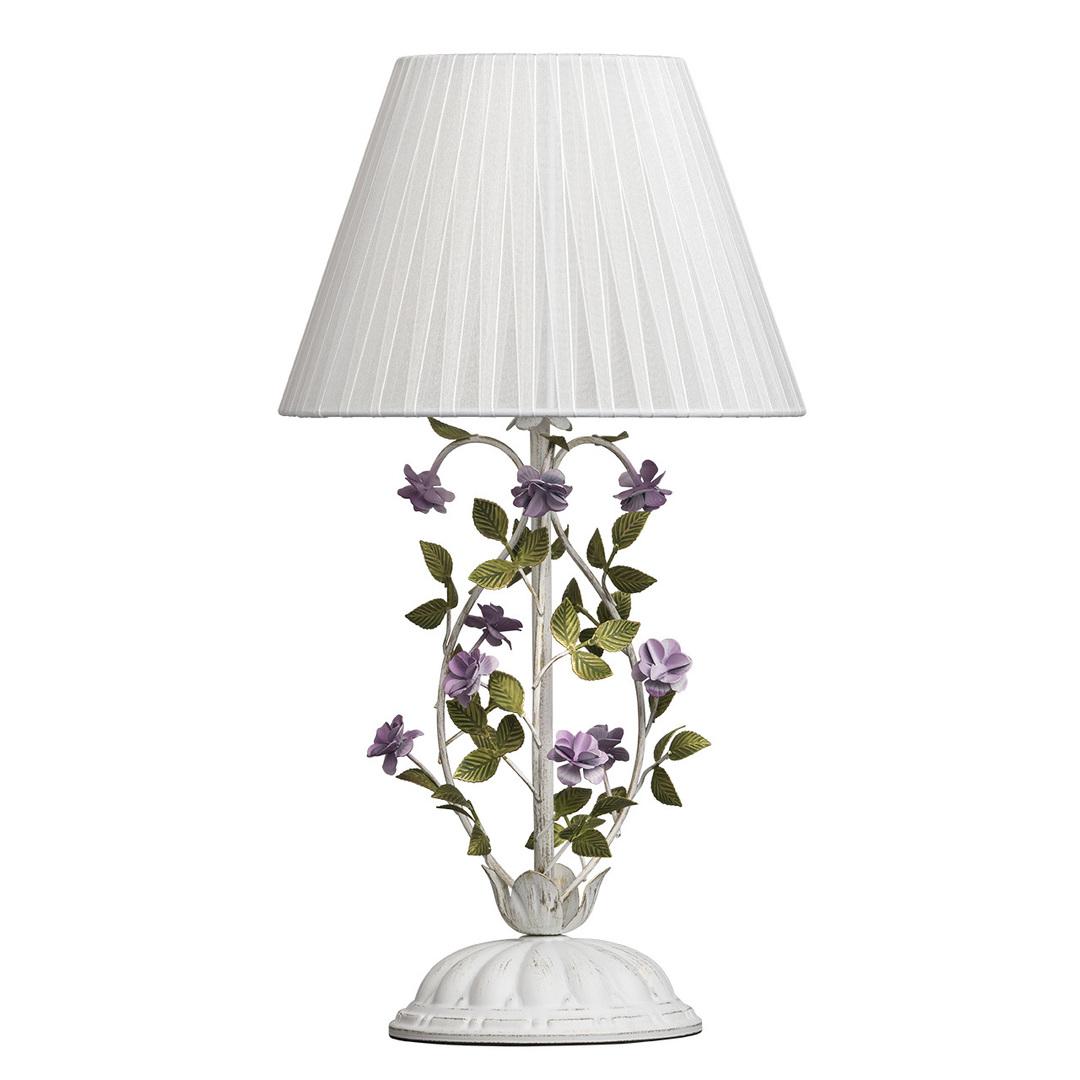 Lampa Stołowa Provence Flora 1 Biały - 421034601