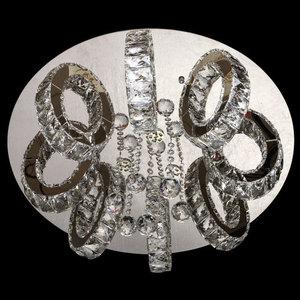Lampa wisząca Clarissa Crystal 3 Srebrny - 437012311 small 4