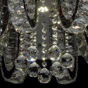 Lampa wisząca Clarissa Crystal 3 Srebrny - 437012311 small 6