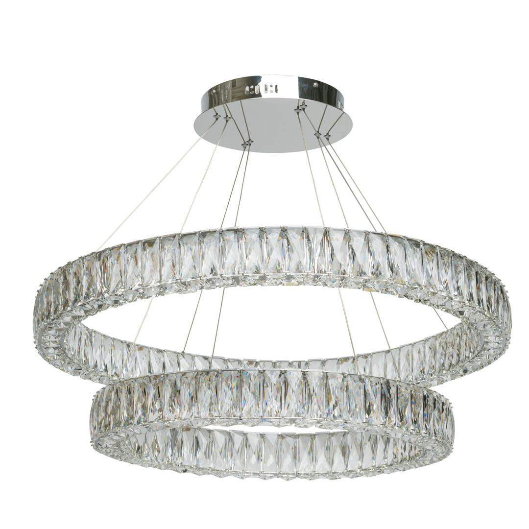 Lampa wisząca Goslar Crystal 136 Chrom - 498012202