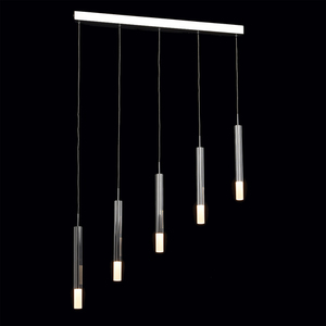 Lampa wisząca Stuttgart Hi-Tech 5 Chrom - 631012405 small 1