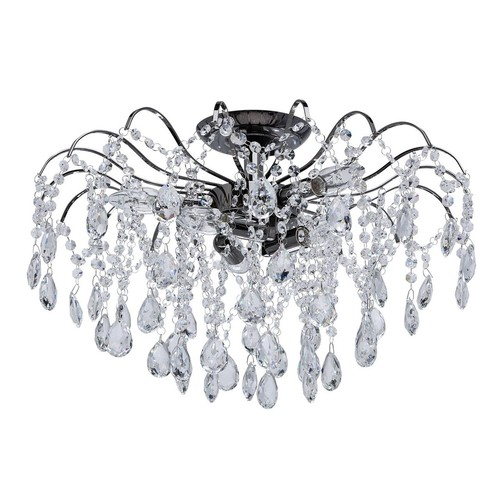 Lampa wisząca Venezia Crystal 6 Szary - 464017506