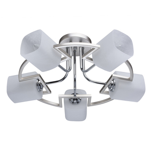 Lampa wisząca Alpha Megapolis 5 Srebrny - 673011605 small 0