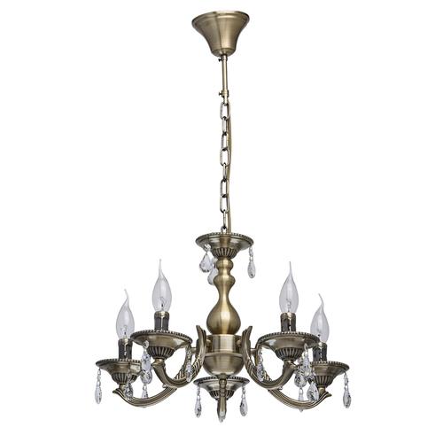 Lampa wisząca Aurora Classic 5 Mosiądz - 371011605