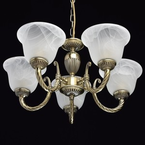 Lampa wisząca Ariadna Classic 5 Mosiądz - 450016305 small 3
