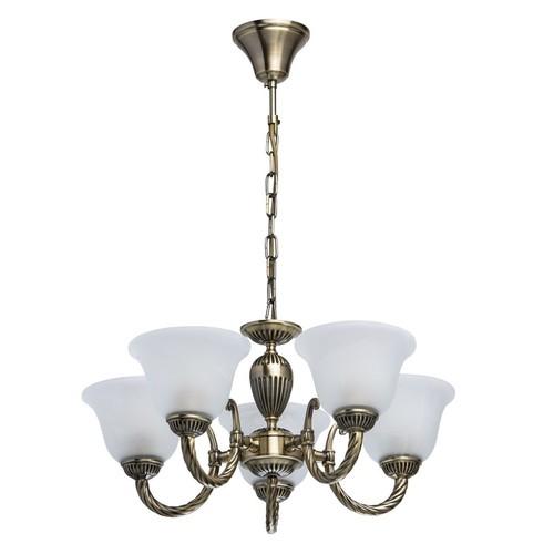 Lampa wisząca Ariadna Classic 5 Mosiądz - 450016305