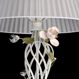 Lampa Podłogowa Provence Flora 1 Biały - 421044901 small 5