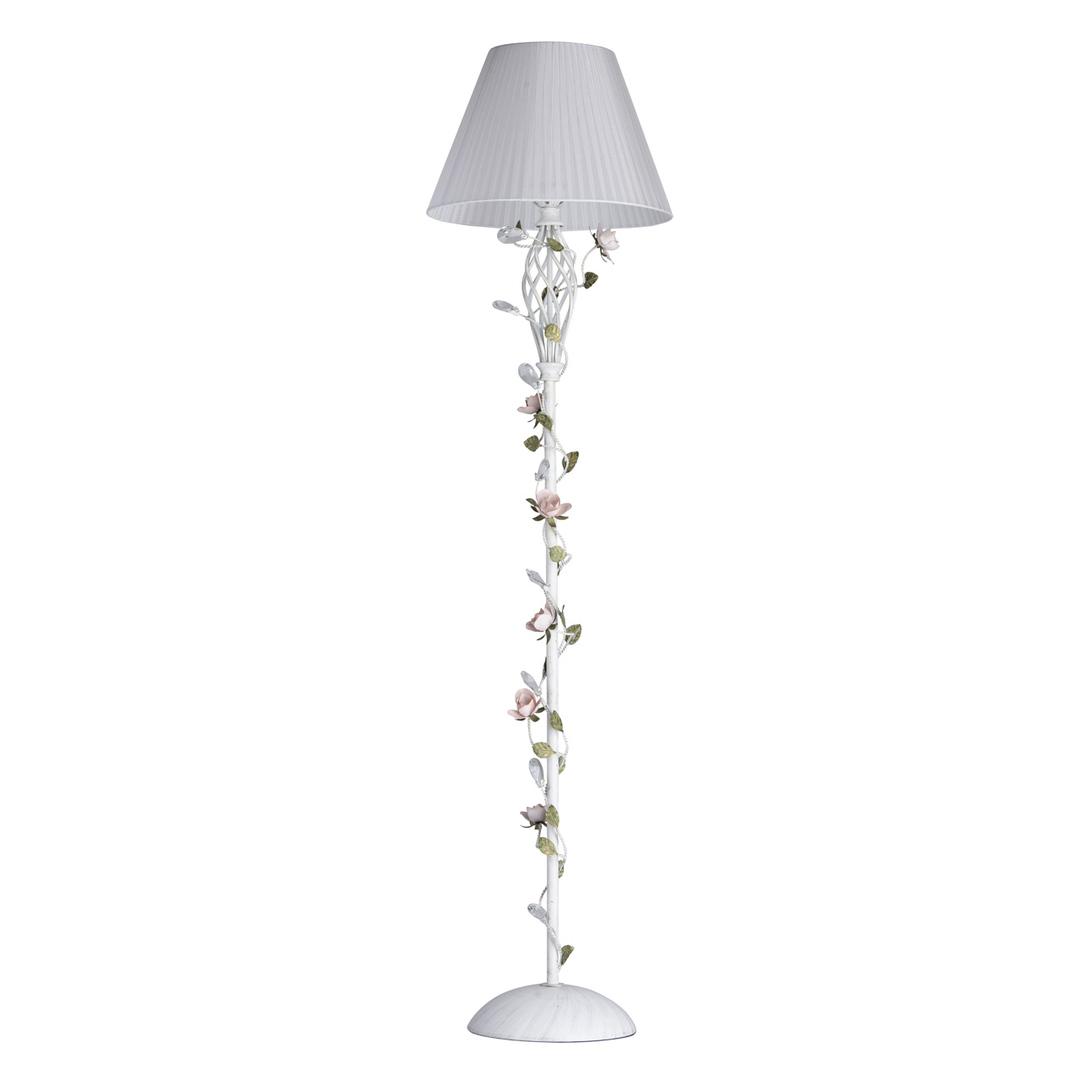 Lampa Podłogowa Provence Flora 1 Biały - 421044901