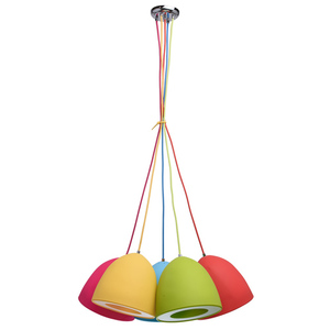Lampa wisząca Siegen Kinder 5 Chrom - 646010905 small 0