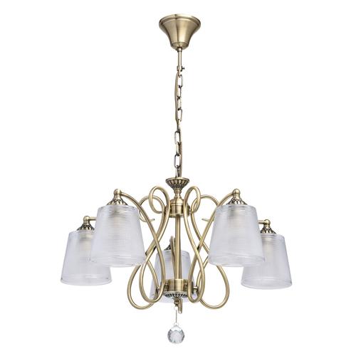 Lampa wisząca Monica Classic 5 Mosiądz - 372013205