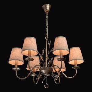 Lampa wisząca Augustina Elegance 6 Srebrny - 419011206 small 1