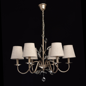 Lampa wisząca Augustina Elegance 6 Srebrny - 419011206 small 2