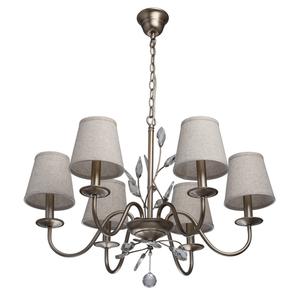 Lampa wisząca Augustina Elegance 6 Srebrny - 419011206 small 0
