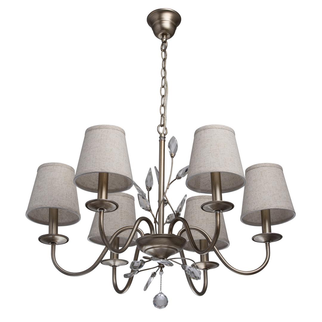 Lampa wisząca Augustina Elegance 6 Srebrny - 419011206